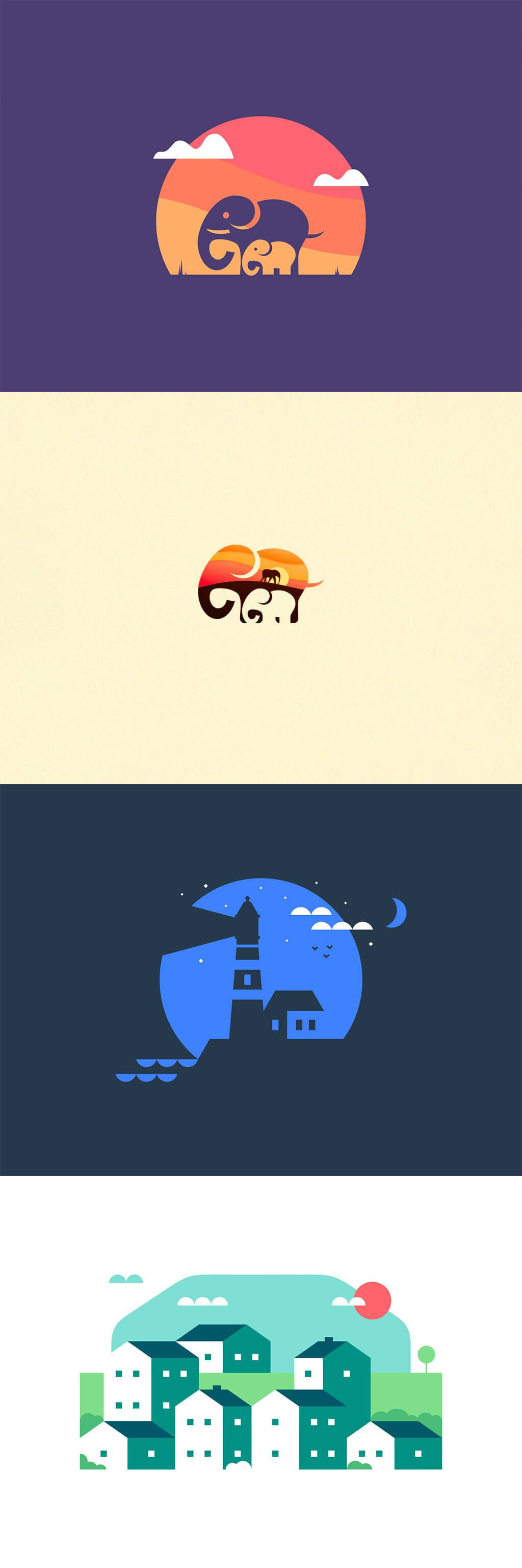 Negative Space Ilustrations by Anthony Gribben