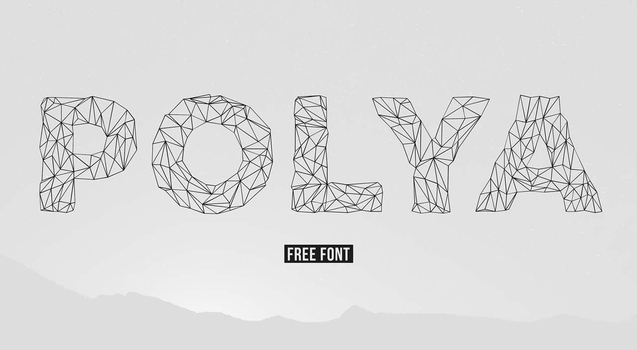 POLYA Free Low-Poly Font