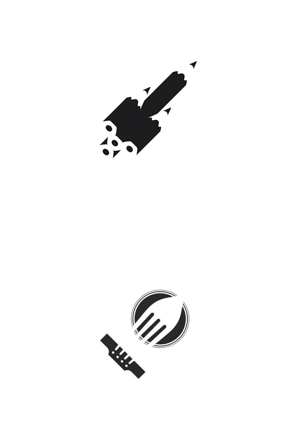 Pencil Rocket Logo by Ortega Graphics