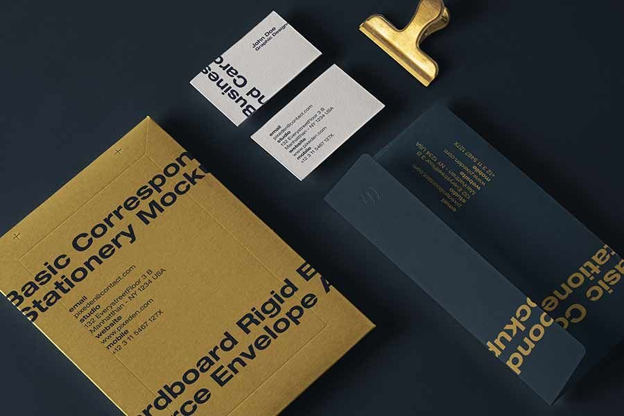 Stationery PSD Envelope Mockup