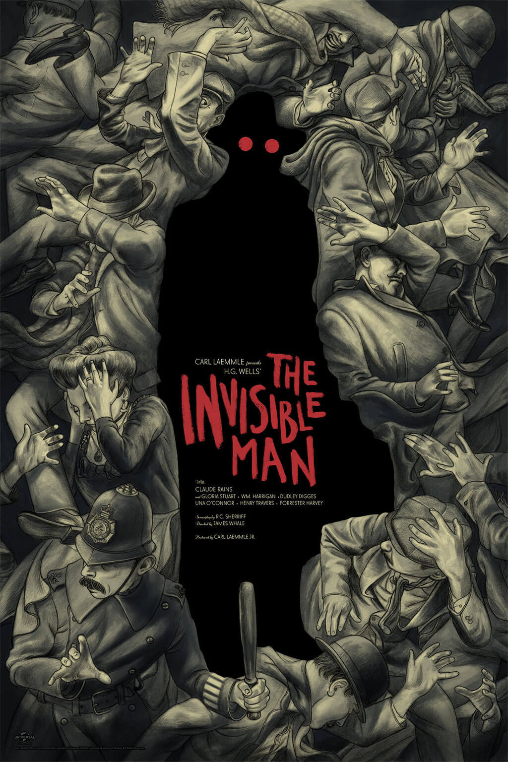The Invisible Man Poster by Jonathan Burton