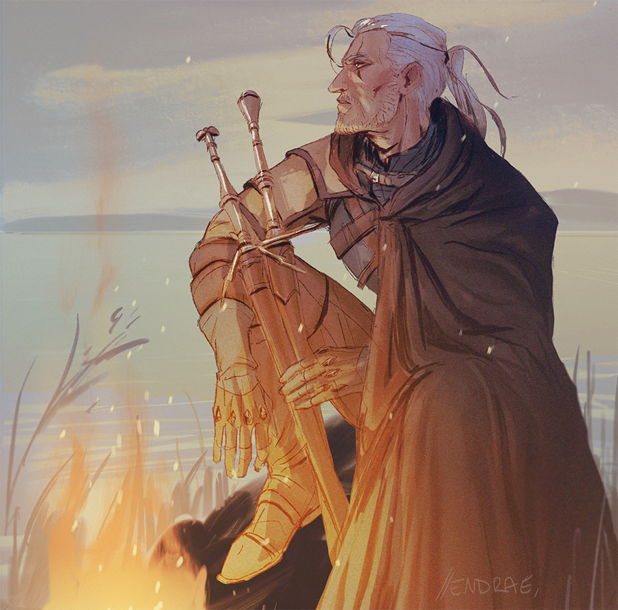 The Witcher fan art by Endrae