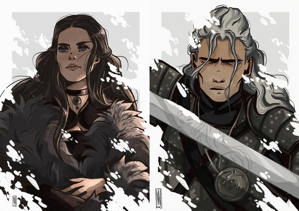 The Witcher fan art by Marine Vernhes