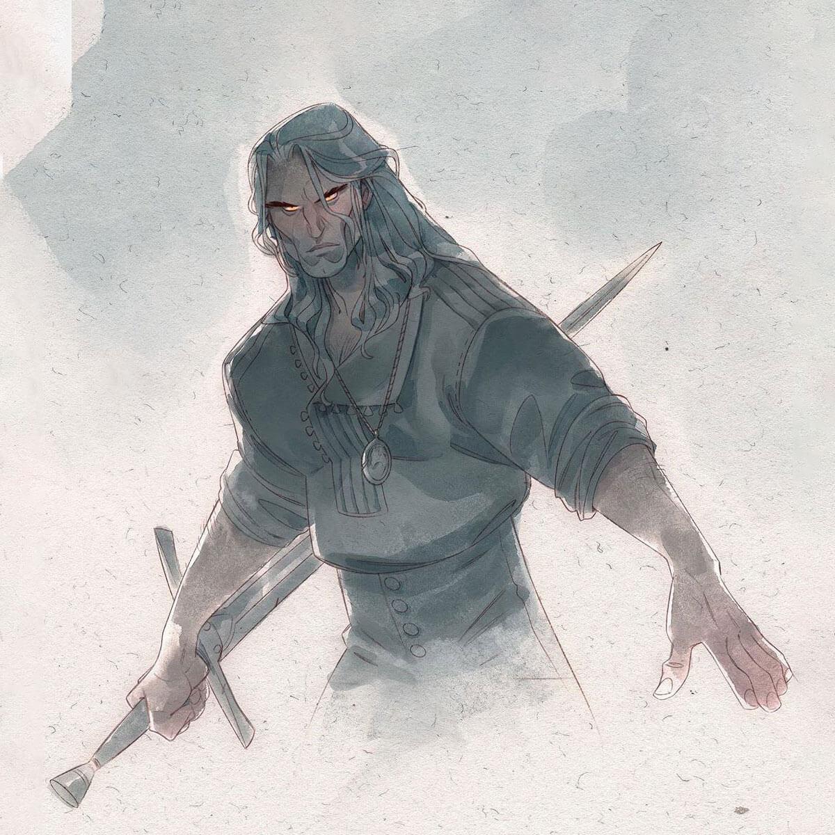 The Witcher fan art by Nicholas Kole