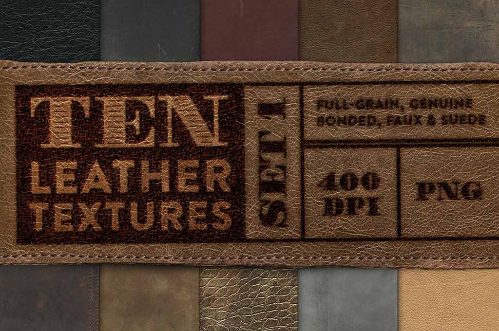10 Leather Textures - Set 1