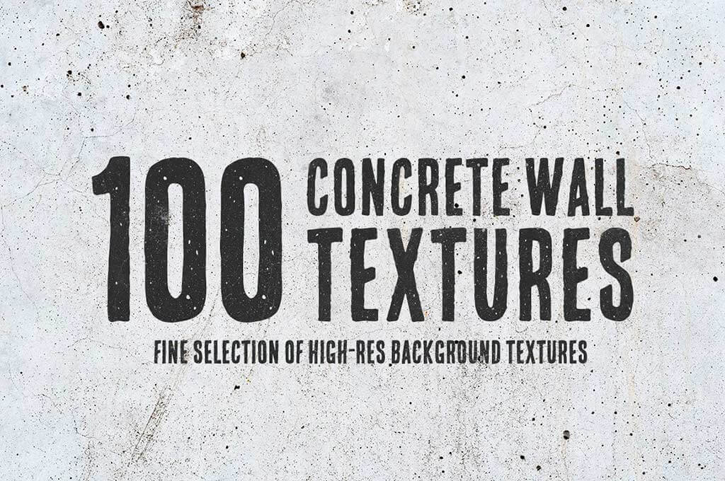 100 Concrete Wall Textures Bundle