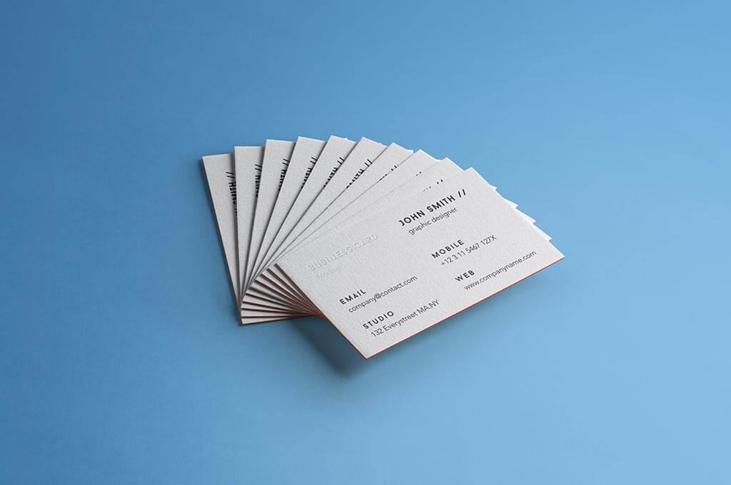 PSD Business Card Brand Mockup