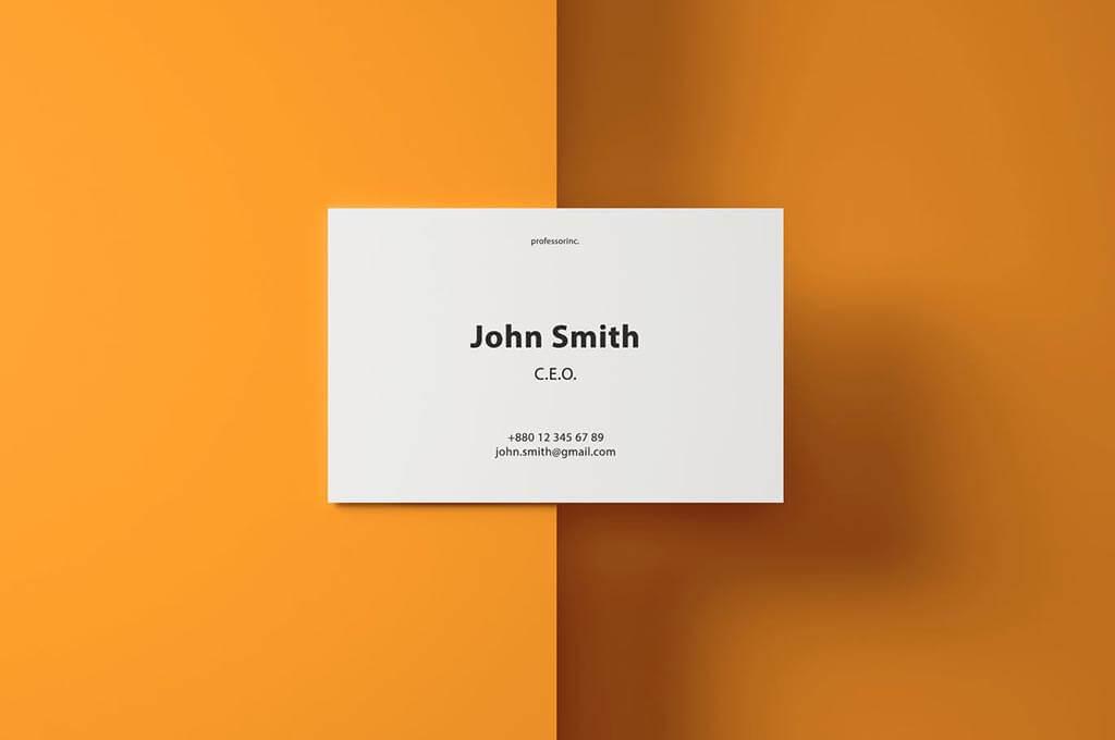 85×55 Business Card Mockup Set
