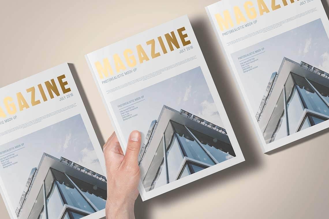 A5 Foil Stamping Magazine Mockup