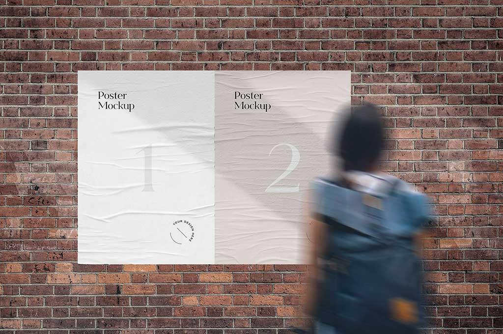 Wrinkled Street Poster Mockup