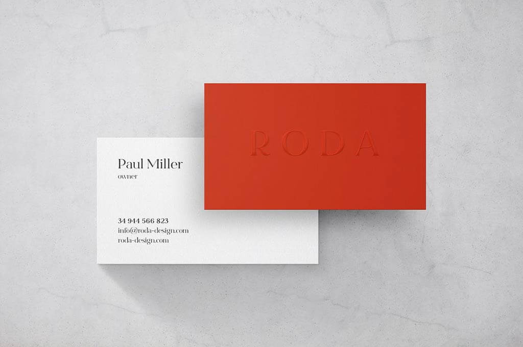 Marble Business Card Mockup