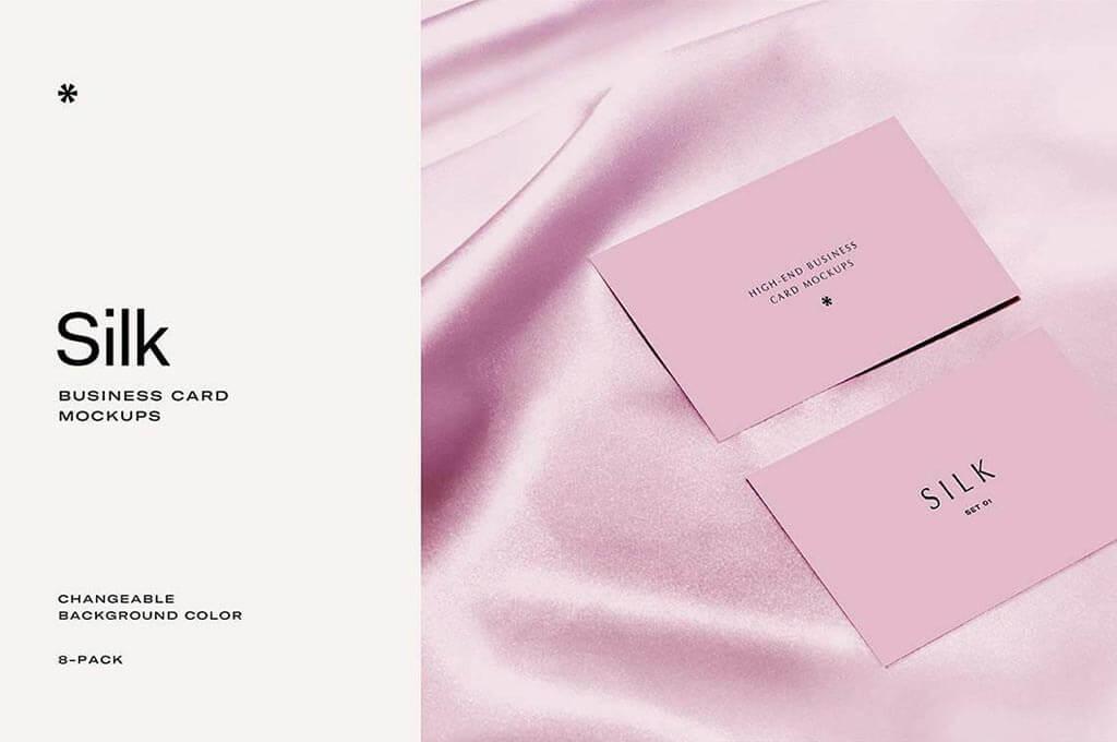 Silk — Business Card Mockup