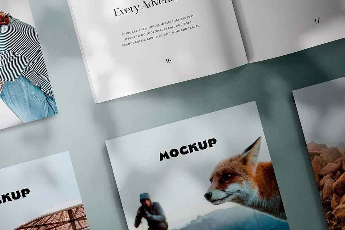 Square Magazines Layout Mockup