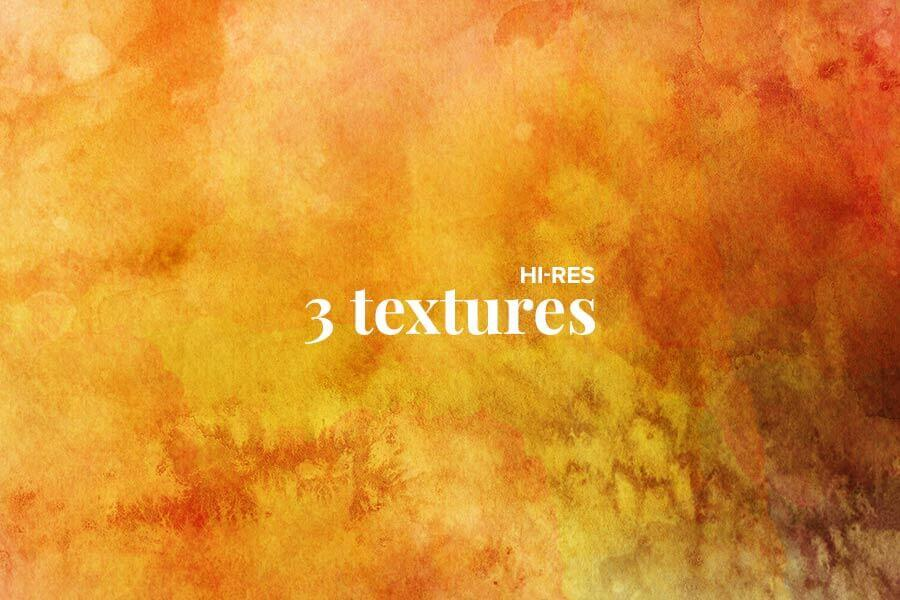 3 Free Watercolor Textures