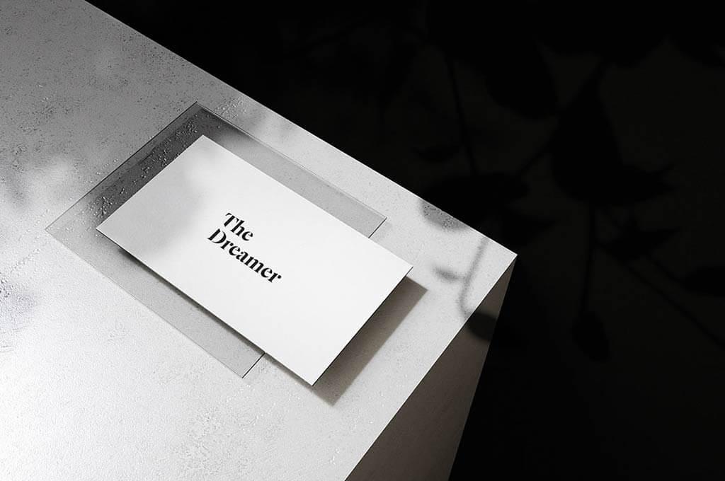 Fancy Business Card 2 — Free Mockup