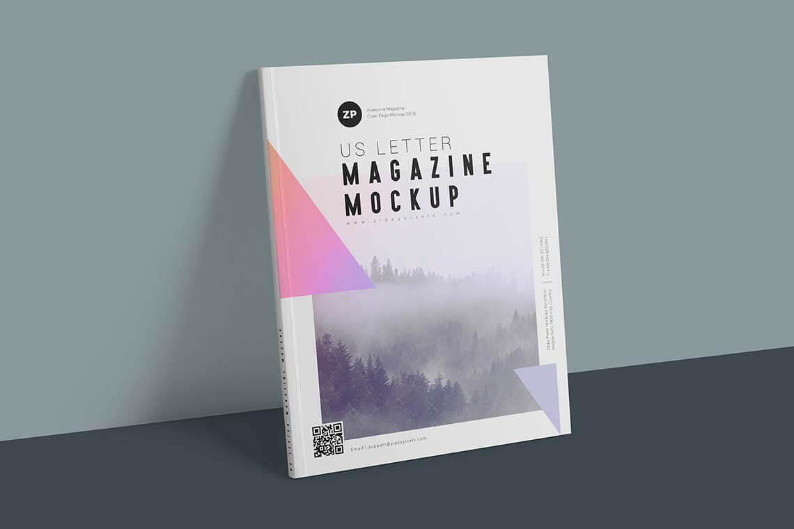 Two Free US Letter Magazine Mockups