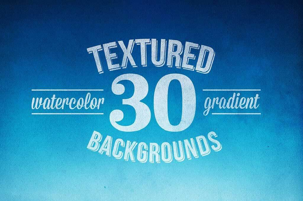 30 Flat Textured Watercolor Backgrounds