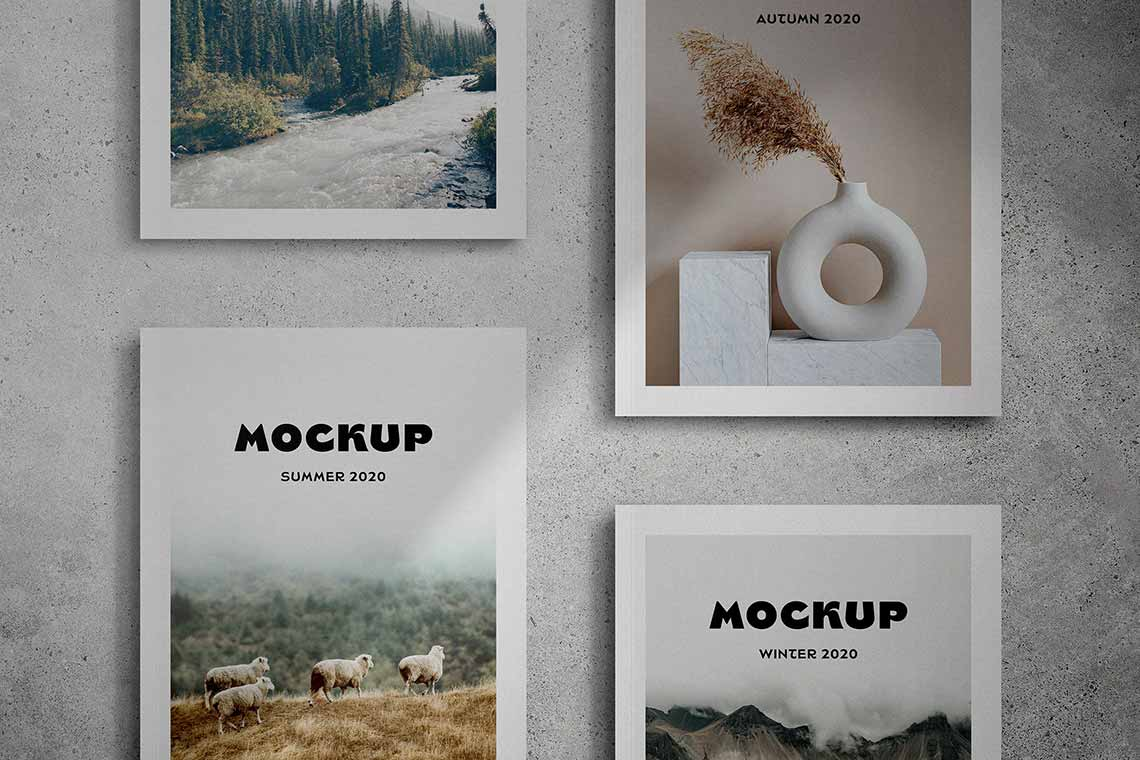 Magazine Cover Mockup Scenes