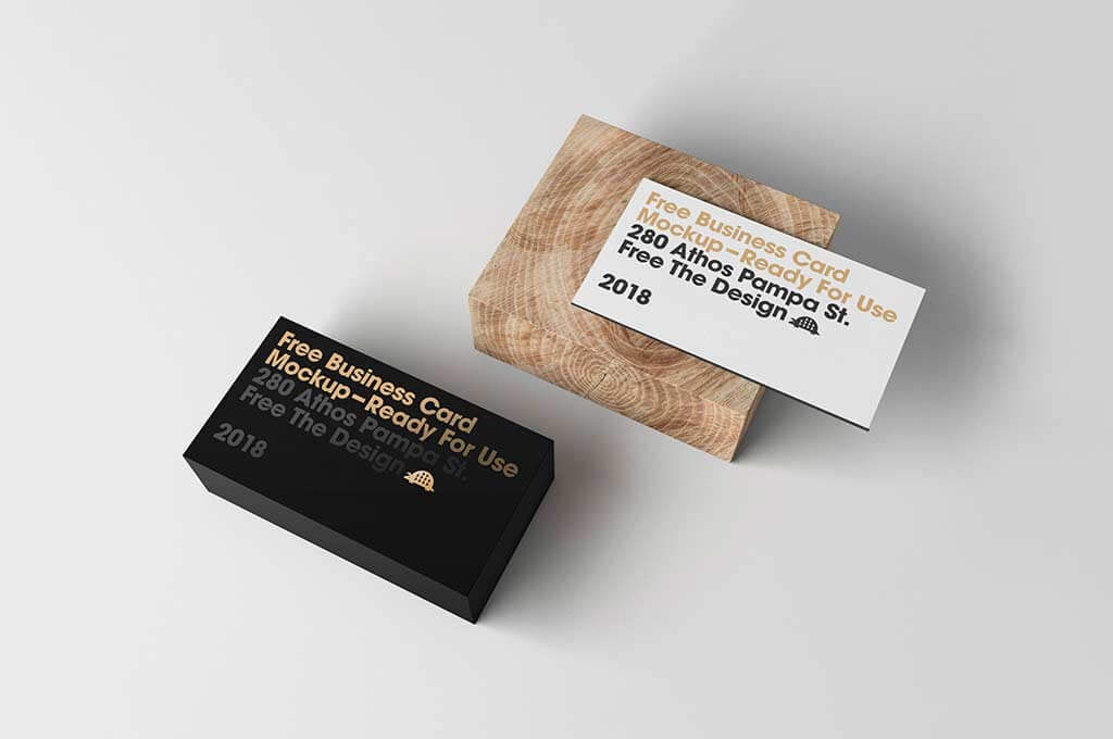 Free Card Display Mockup