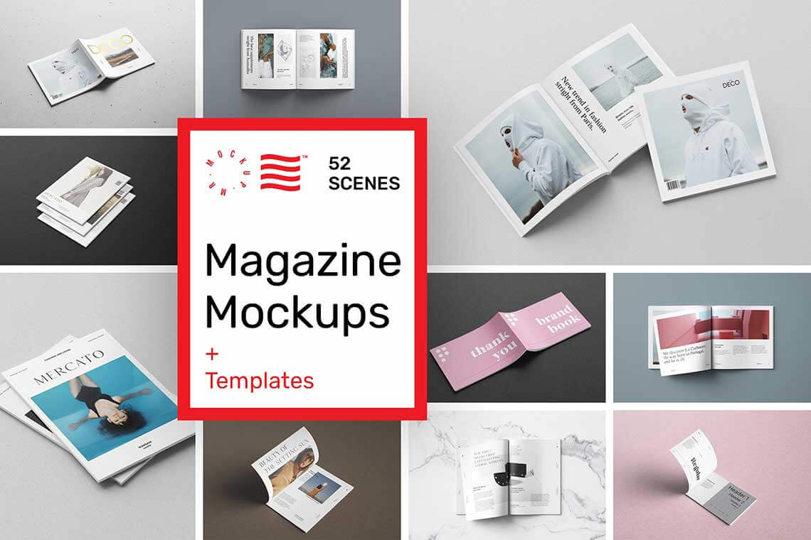 Magazine Mockups — 52 Scenes