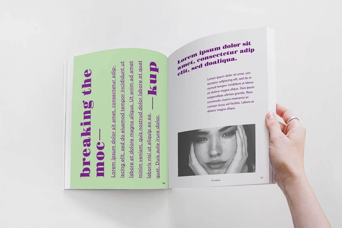 Opened Magazine PSD Mockup