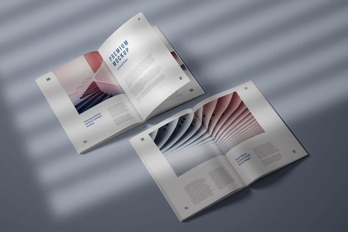 Vertical Catalog Magazine Mockup