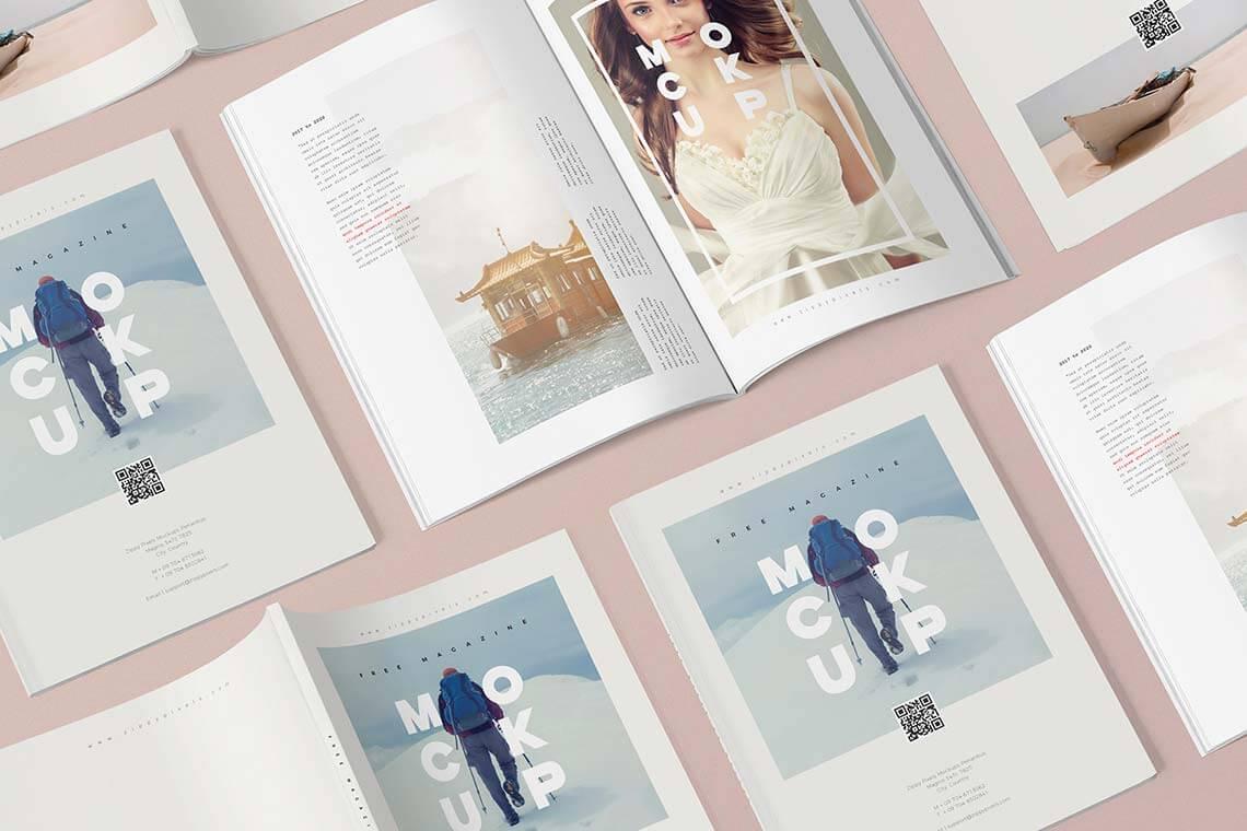 3 Free Magazine Mockup Templates