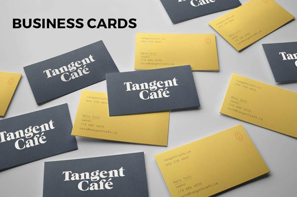 Business cards. 7 PSD mockups