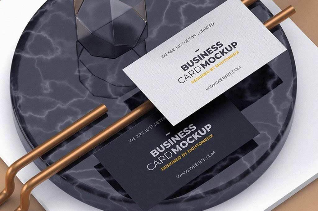 Modern Experimental Business Card Mock-Up
