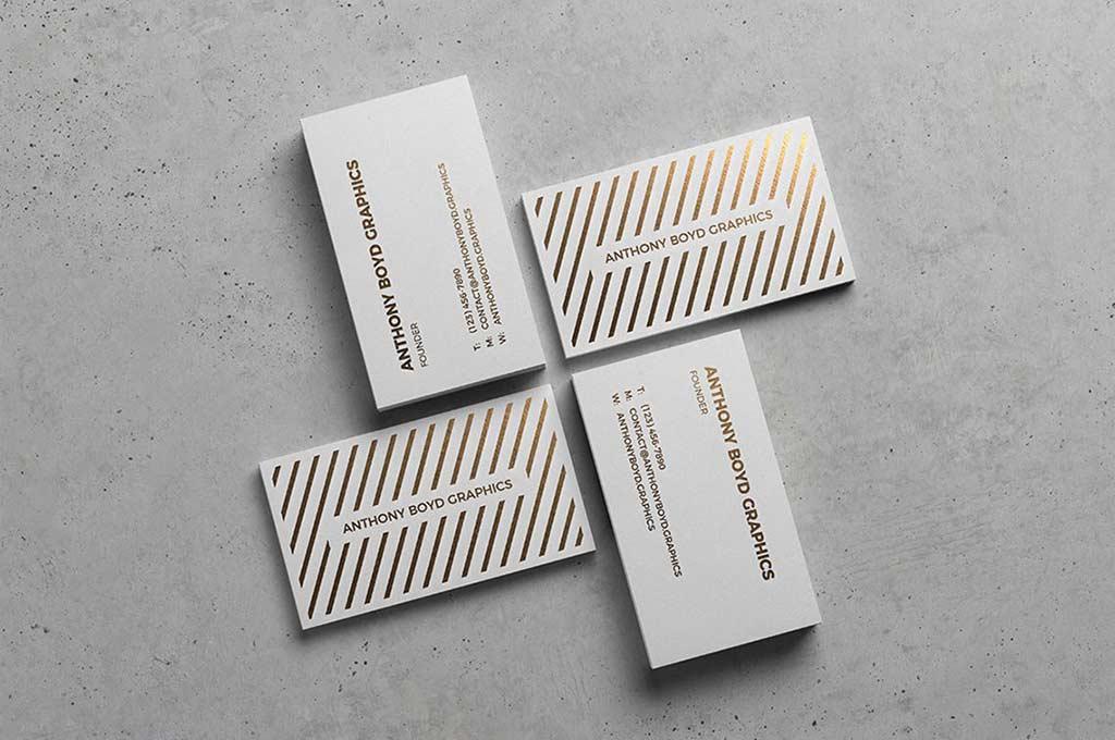 Modern Business Card Showcase Mockup