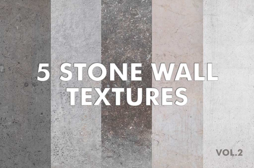 5 Stone Wall Textures vol.1
