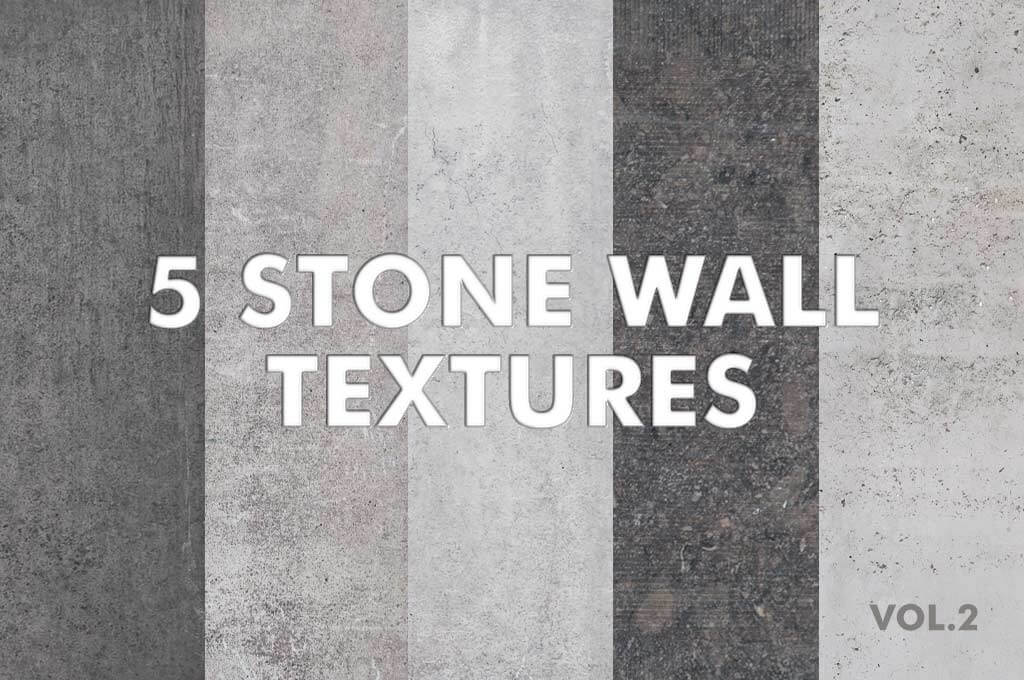 5 Stone Wall Textures vol.2