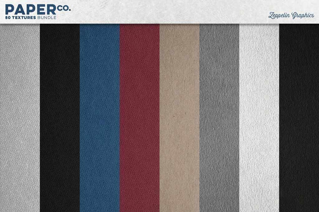 50 Paper Textures Set