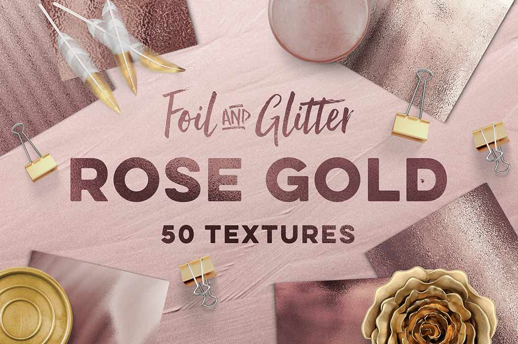 50 Rose Gold Textures