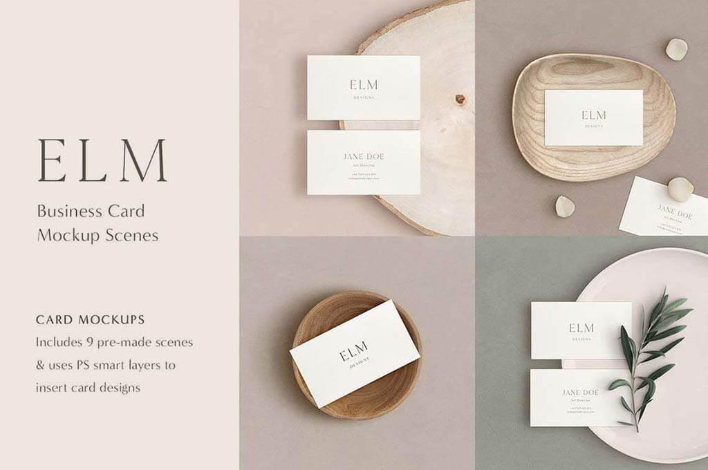 Elm — Business Card Mockup Kit