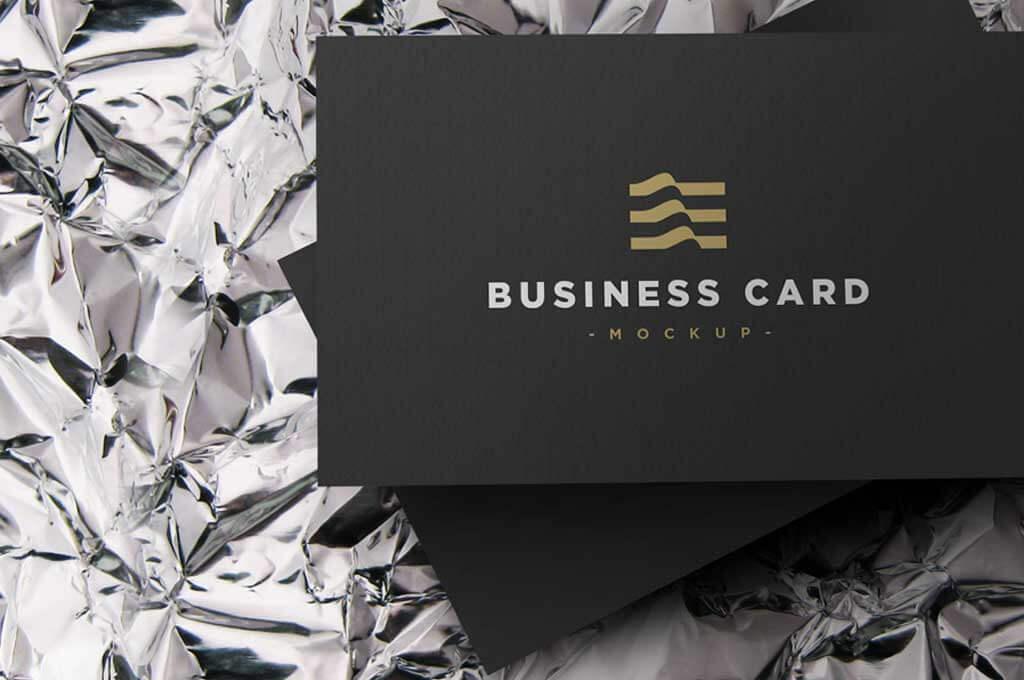 Elegant Business Card Mockup PSD