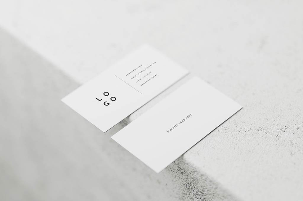 White Business Card Mockups