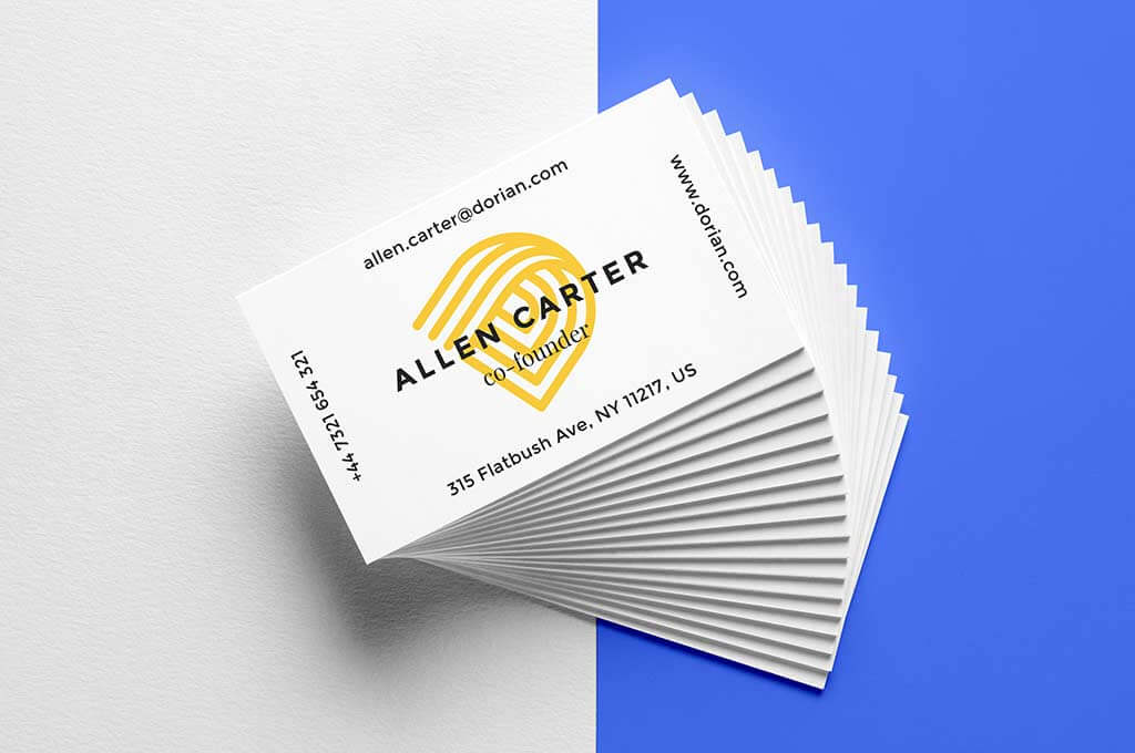 Realistic Business Cards Mockup