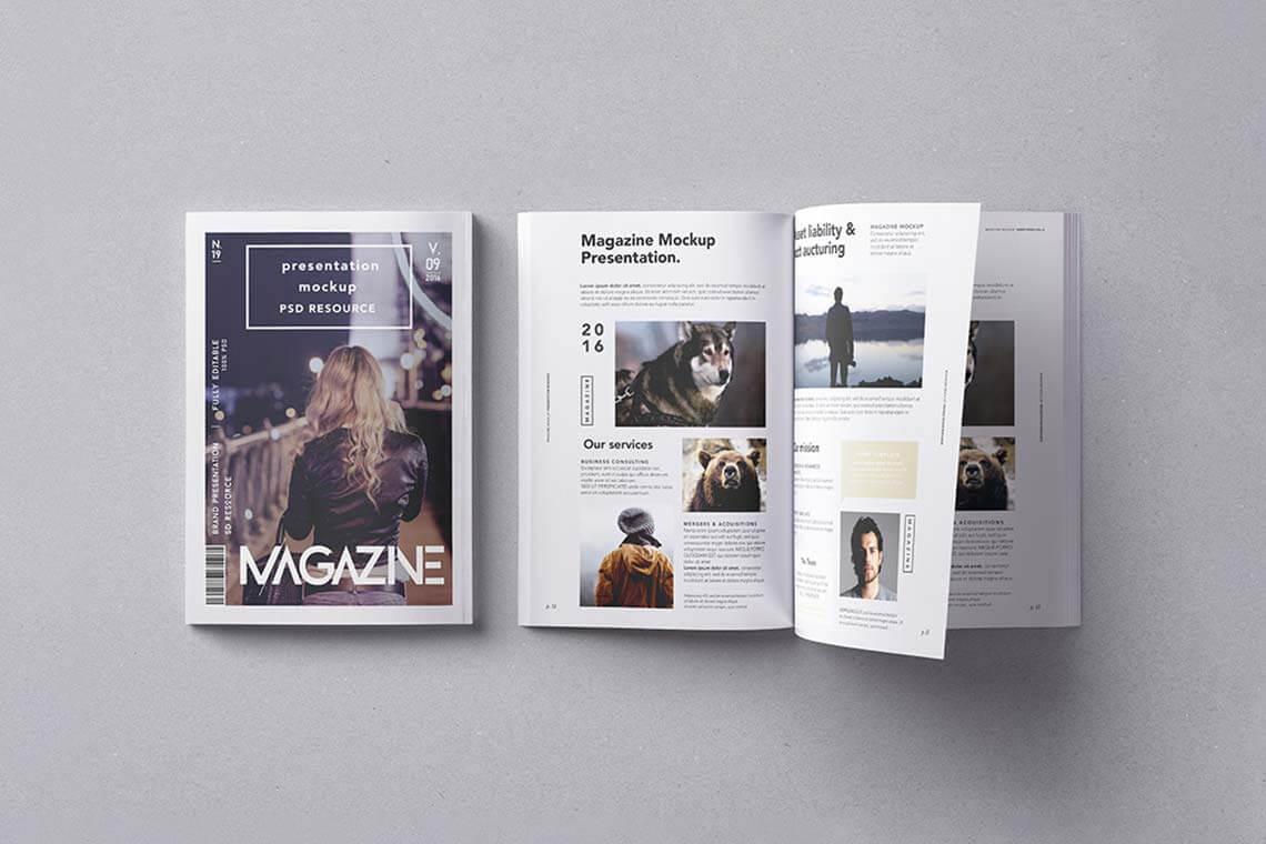 PSD Magazine Mockup Vol.9