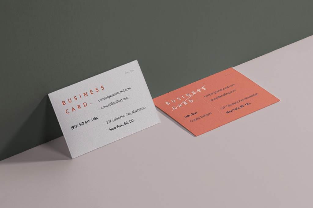 PSD Business Card Branding Mockup