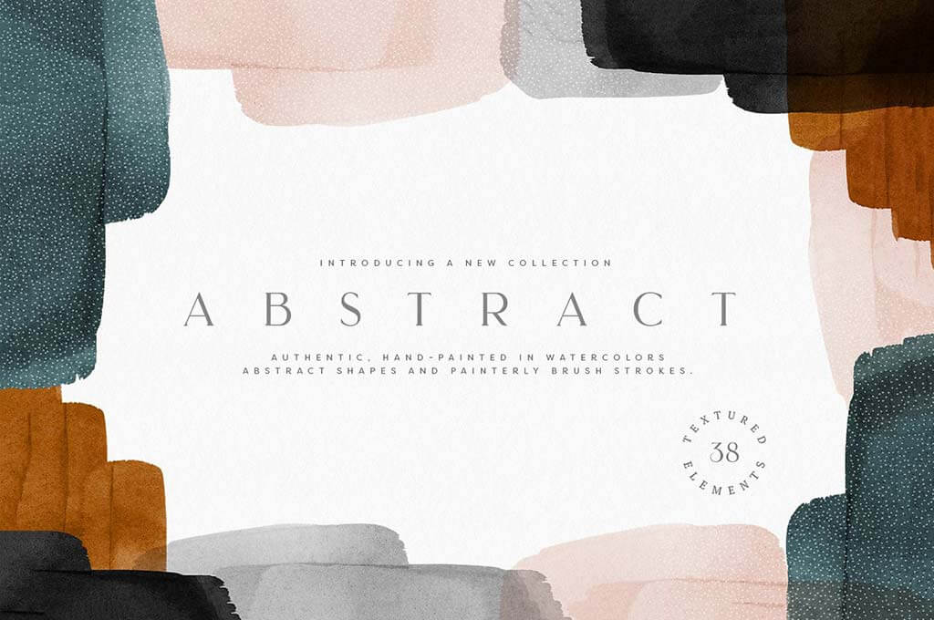 Abstract Watercolor Shapes