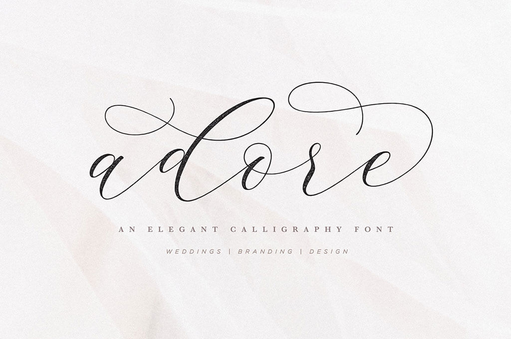 Adore Modern Calligraphy Font