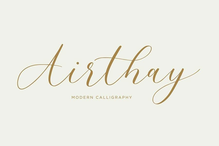 Airthay — Modern Calligraphy Wedding Font