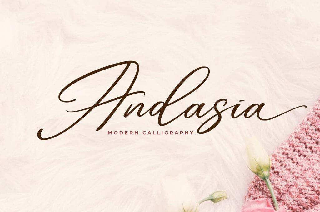 Andasia Romantic Font