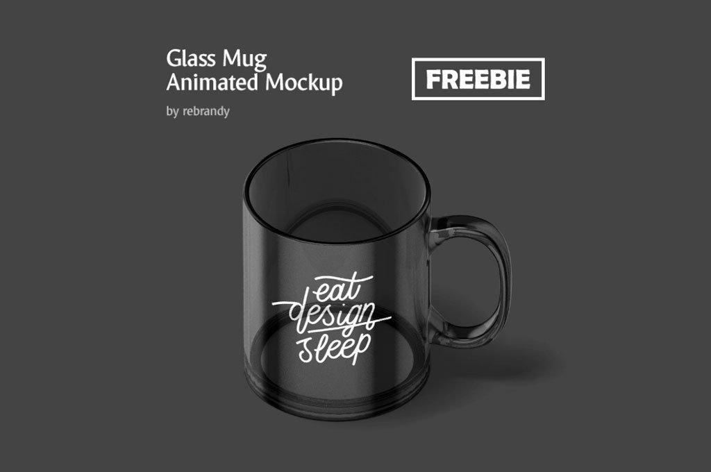 Animated Glass Mug Mockup
