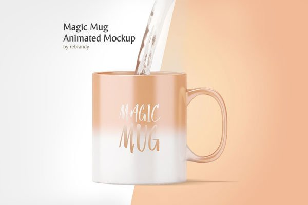 Animated Magic Mug Mockup