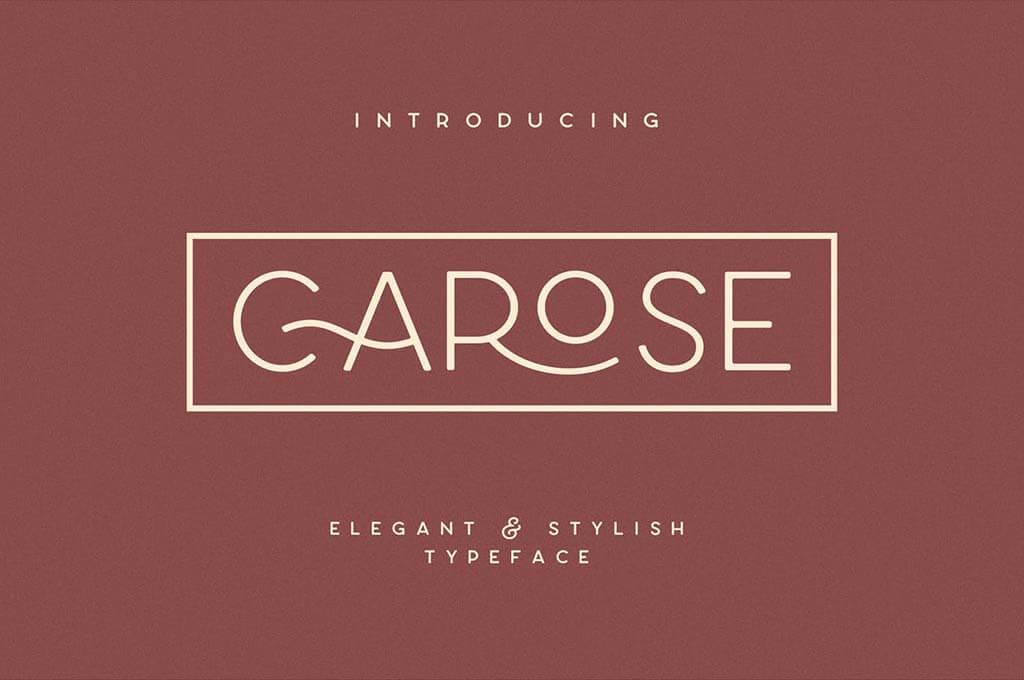 Carose Sans - 6 Elegant Typeface