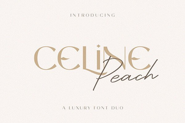 Celine Peach — Luxury Font Duo