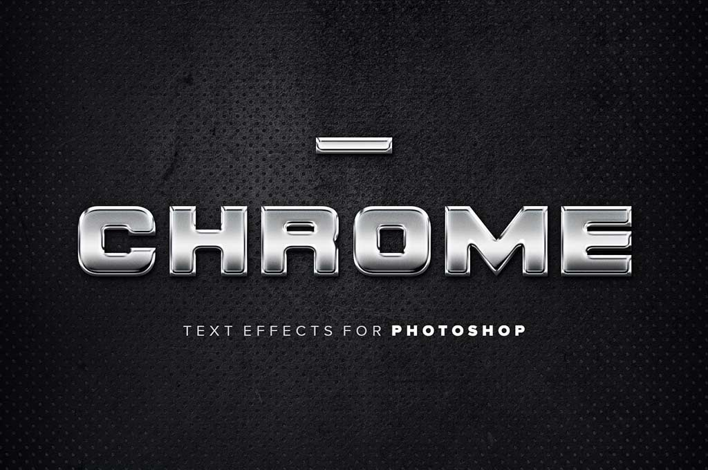 Chrome Photoshop Text Effects
