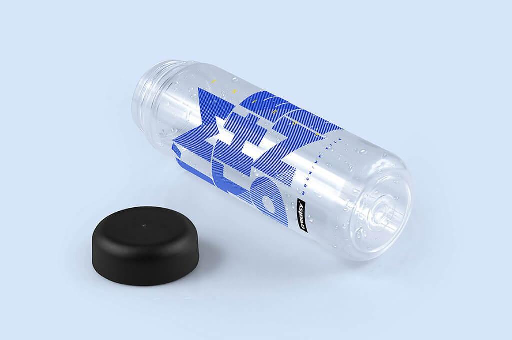 Clear Water Bottle Mockup Set